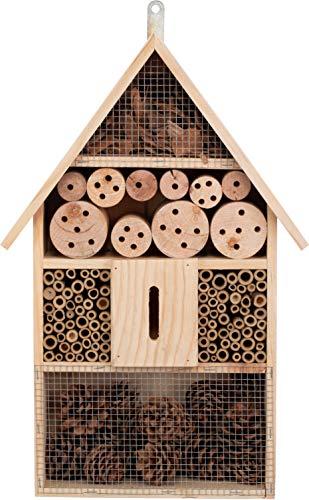 Brandsseller Insektenhotel XXL Natur Nistkasten Insektenhaus aus Holz für Fluginsekten - Bienen,Schmetterlinge, Marienkäfer und andere Tiere ca.48x31x10 cm
