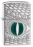 Zippo Armor Dragon's Eye Pocket Lighter, High Polish Chrome, One Size