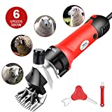 TOLYS 380W Electric Sheep Shears, Portable Sheep Clippers with 6 Speed,Electric Goat Shears for...