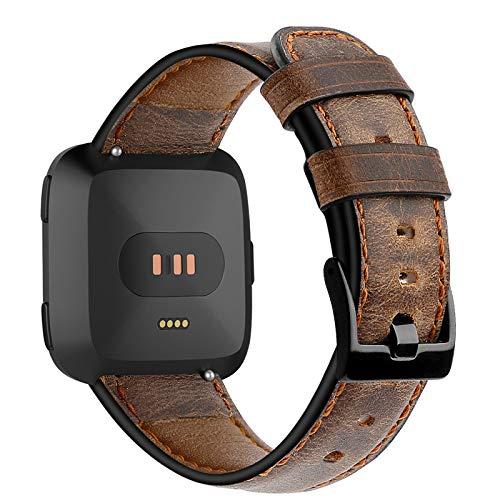 KIMILAR Cinturino Compatibile con Fitbit Versa/Versa 2 / Versa Lite, Cinturino in Pelle Anticata Cerata Compatibile con Fitbit Versa 2 / Versa/Versa Lite Smartwatch