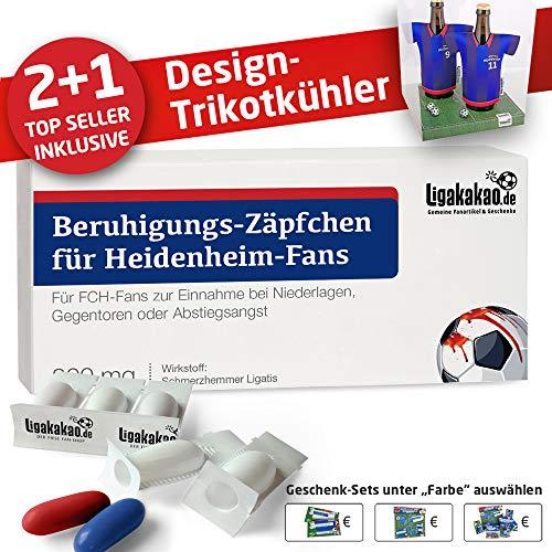 Alles für Heidenheim-Fans by Ligakakao.de Home-Trikot ist jetzt Mein TRIKOTKÜHLER Geschenk-Set (2X Trikots + 1 ZÄPFCHEN)