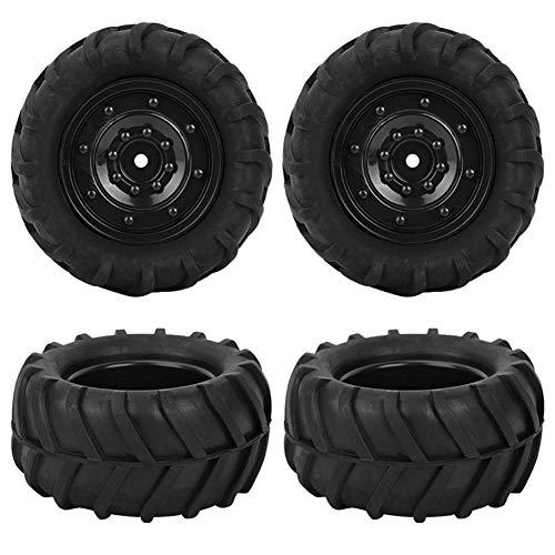 Huanruobaihuo Neumáticos 4 PCS de Goma de 1/16 RC orugas camión de Roader RC Neumáticos y Las Llantas de neumático de Coche de Carreras Off-Road Modificación de actualización Accesorios