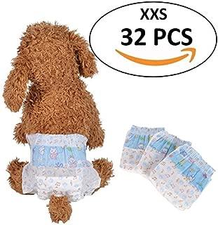 Bailuoni Disposable Dog Diaper Pet Diaper Female for Teddy Bichon Frise Poodle Pet Dog