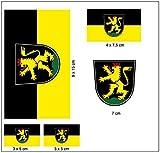 Aufkleber Set Heidelberg Fahne Flagge