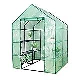Zyyini Invernadero de Plantas portátiles, invernaderos de jardín, Invernadero de Plantas El pequeño Invernadero de jardín de Cuatro Pisos es Adecuado para Proporcionar un Entorno(143 * 73 * 195 cm)