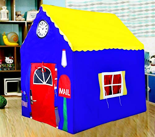 Dlorkan Jumbo Size Printed French Home Play Tent For Kids Play Tent House Upto 10 Year Old Girls and Boys (Made In INDIA)