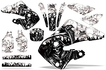 AMR Racing MX Dirt Bike Graphics kit Sticker Decal Compatible with Honda CR125 1998-1999 and CR250 1997-1999 - Reaper White