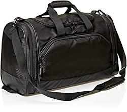 AmazonBasics 40 L Sports Duffel Bag - Small (Black),AmazonBasics,ZH1708157R6,duffel,duffel bag,duffel bag for travel,duffel bag for women,duffle,duffle bag,duffle bag for gym,duffle bag for men,duffle bag for travel,gym bag,gym duffle,sports duffel bag,travel duffel,travel duffel bag