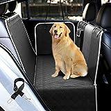 UPODA Housses de siège pour chien avec fenêtre en maille visuelle, imperméable, antidérapante, durable pour animal domestique, hamac avec ceintures de sécurité et poches de rangement