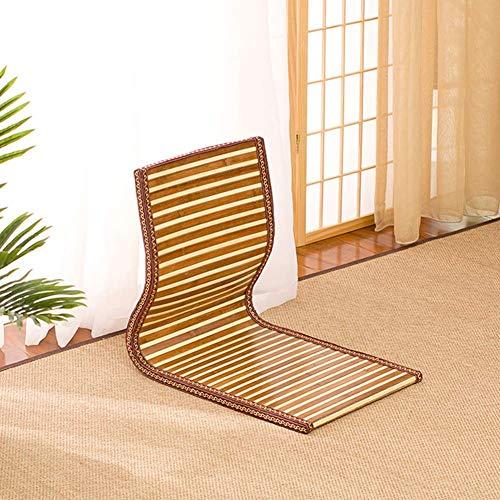 YLCJ bamboe rieten stoel Vloerkussen Rotan opvouwbare strandstoel Vloerstoel Bah een draagbare raamstoel 46x38x41cm e-stijl (18x15x16inch)