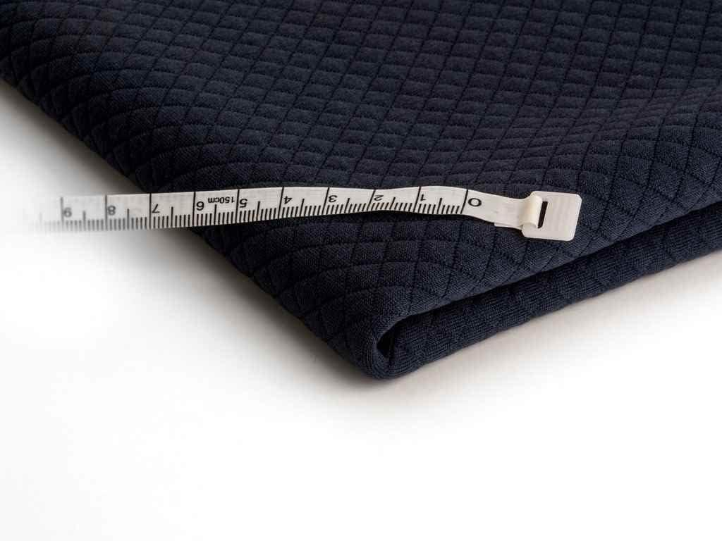 Aqua Matelass/é Jersey Tricot/é en tissu Petits ch/èques 50 X 150 CM