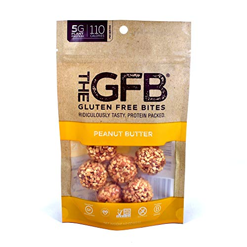 The GFB Gluten Free Protein Bites, Peanut Butter, 4 Ounce (6 Count), Vegan, Dairy Free, Non GMO, Soy Free