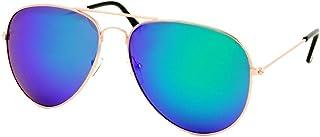 Fiko - Aviador - Gafas de sol para hombre polarizadas, unisex, UV400, años 70FIKO - Gafas de sol estilo aviador, espejo, para hombre, polarizadas, unisex, UV400, años 70