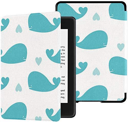 Custodia in tessuto Kindle Paperwhite completamente impermeabile (decima generazione, versione 2018), custodia per tablet Wallpaper Whales