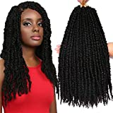 8 Packs 20 Inches Tiana Passion Twist Hair Crochet Braids Prelooped Passion Twist Crochet Braaiding Hair Synthetic Fiber Water Wave Goddess Locs Long Bohemian Style (20 Inch, 1B#)
