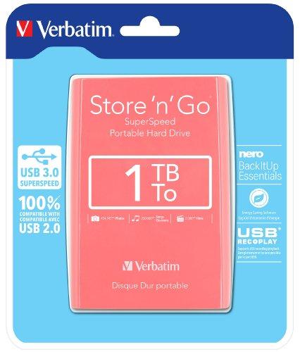 Verbatim 533173 externe Festplatte (6,4 cm (2,5 Zoll), 5400rpm, USB 3.0) pink