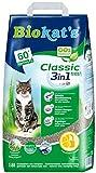 Biokat's Classic fresh 3in1 mit Frühlings-Duft - Klumpende Katzenstreu mit 3 unterschiedlichen Korngrößen - 1 Sack (1 x 18 L)
