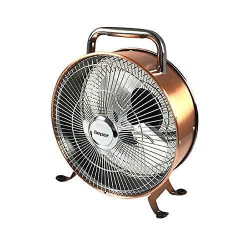 Beper VE.450 Ventilador sobremesa estilo retro vintage, 15 W, Aluminio, Bronce