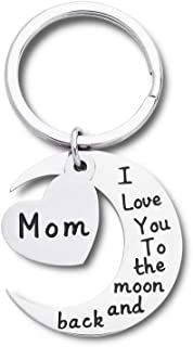 Mothers Day Gift keychain for Mum Grandma Her From Daughter And Son - I Love You To The Moon And Back Personalised Keyring...