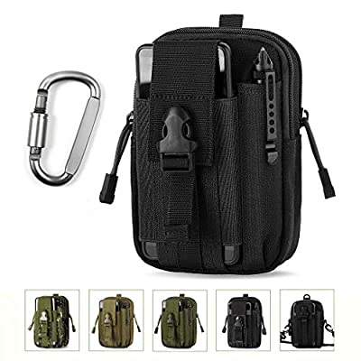 Unigear Molle Pouch, Compact EDC Utility Tactical Multi-Purpose Gadget Tool Waist Bag Pack with Extra Aluminum Carabiner by Unigear
