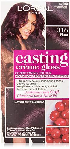 L'Oréal Paris Casting Crème Gloss Semi-Permanent Hair Colour - 316 Plum (Ammonia Free)