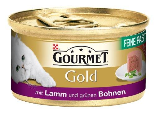 Gourmet Gold Feine Pastete mit Lamm & grünen Bohnen85g Katzenfutter (24er Pack) von Purina