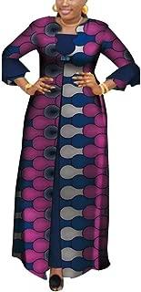 HITARGET Women's 2 Piece Set African Print Long Jacket and Strap Maxi Dress