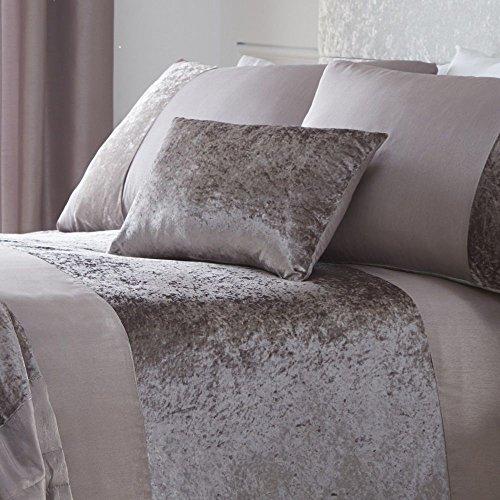 Tony's Textiles - Cuscino oblungo in velluto, Poliestere, Visone, 12' x 20' (32cm x 50cm)