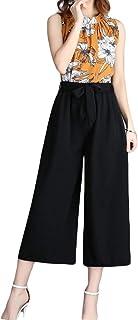 Fashring Women's Long Pant Elastic Waist Tie Loose Summer Youga Legging Pants