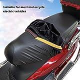iBàste Funda de Moto Ligera Funda de Asiento Exterior Resistente al Agua Polvo protección UV Apto para la mayoría de Sport Adventure Touring Cruiser Dress Touring