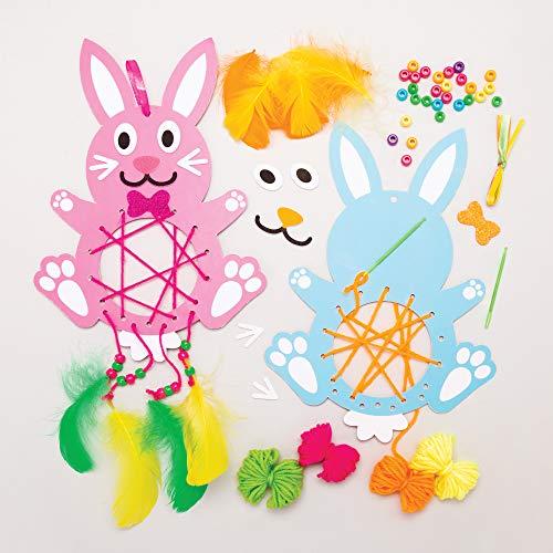Baker Ross Kits Atrapasueños Conejito de Pascua - Actividad de Manualidades Infantiles de Pascua para Crear y Exhibir (Paquete de 4)