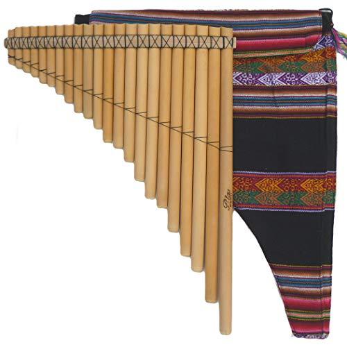 左低音 フォルクローレ楽器 パンフルート ケース付 PAN-22K2 43cm 22管