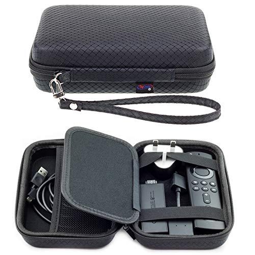 Digicharge Custodia per Trasporto Rigida per Amazon Fire TV Stick 4K / Fire TV Stick Telecomando Cavi e Caricabatterie