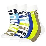 Tommy Hilfiger Kids Socks Giftbox (3 Pack) Calcetines, azul, 35-38 para Niños
