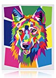 Talesay Paint by Numbers for Kids Ages 8-12, Oil Number Painting Wolf Acrylic Canvas Painting Kits, Easy Animals Drawing Paintwork 16x20 Inch