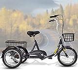 XHPC Bicicleta Vintage, Bicicleta Vieja, Conveniente Triciclo, Bicicleta para Ancianos, Bicicleta eléctrica para Adultos, Triciclo para Compras y Ocio