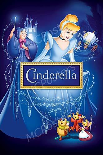 MCPosters - Disney Classic Cinderella Glossy Finish Movie Poster - MCP727 (24' x 36' (61cm x 91.5cm))
