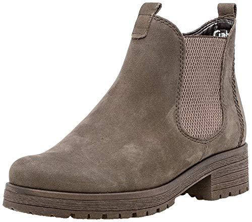 Gabor Damen Stiefelette 32.091, Frauen Chelsea Boots,Stiefel,Halbstiefel,Bootie,Schlupfstiefel,flach,anthrazit (Micro),40.5 EU / 7 UK