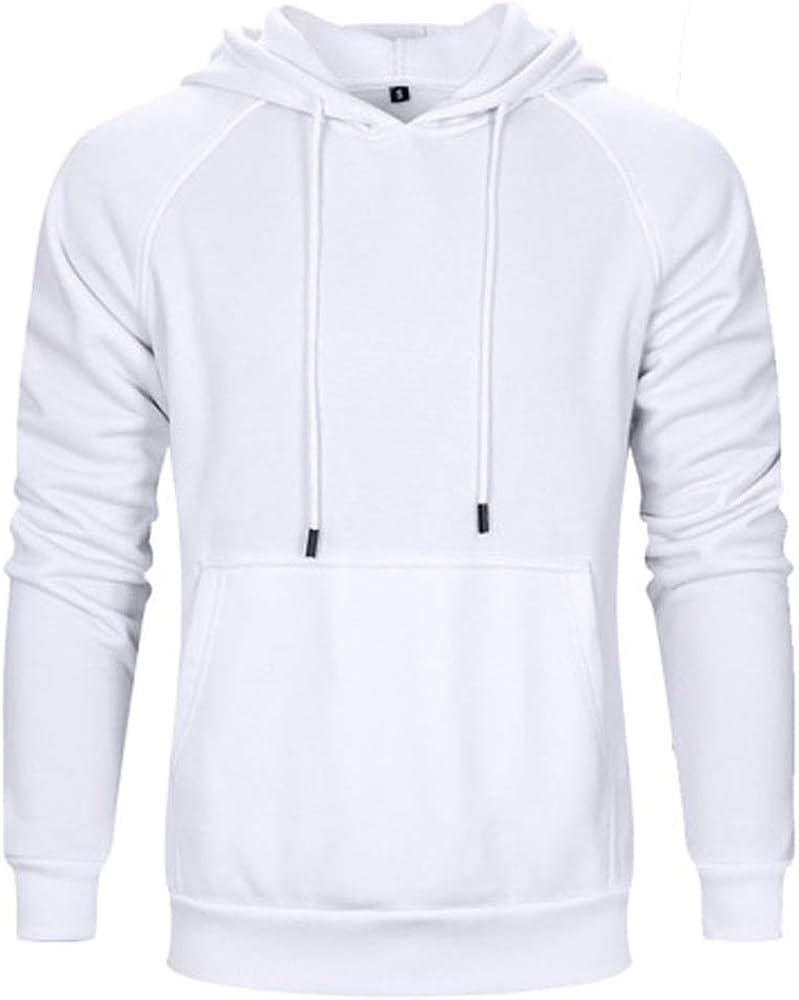 Men's Spring New Fleece Sweatshirts Hoodies Cotton Jacket with Pockets