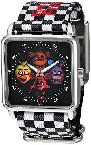 Relógio analógico de quartzo Five Nights at Freddy's Girls' com pulseira de plástico, multicolorido, 27 (modelo: FNF8000AZ)