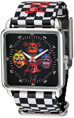 Five Nights at Freddy's Analog Quartz Watch with Plastic Strap, Multicolor, 27 (Model: FNF8000AZ)