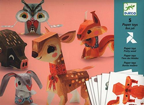 Djeco, Paper Toys Bois Joli, Multicolore