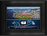 Los Angeles Dodgers Framed 5' x 7' Stadium Collage with a Piece of Game-Used Baseball - MLB Team Plaques and Collages