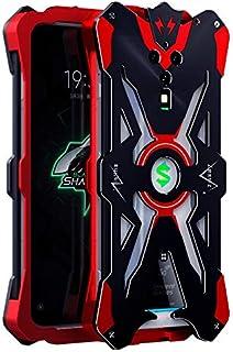 غطاء ألومنيوم معدني فاخر مقاوم للصدمات يدعم لوحة تحكم الألعاب حافظة خلفية xiaomi black shark 3 Pro SJK0435