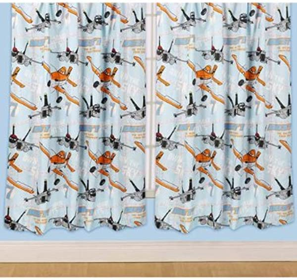 Disney Planes Dusty Curtain 72inch 100 Polyester Microfibre
