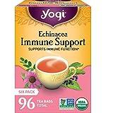 Yogi Tea - Echinacea Immune Support - Supports Immune Function - 6 Pack, 96 Tea Bags Total