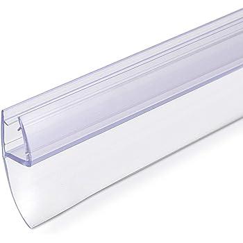 Navaris junta de recambio para ducha - Repuesto para puerta de vidrio con grosor de 6MM - Sello protector contra salpicaduras 180° de 80CM de largo: Amazon.es: Bricolaje y herramientas