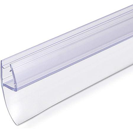 Navaris junta de recambio para ducha - Repuesto para puerta de vidrio con grosor de 6MM - Sello protector contra salpicaduras 180° de 80CM de largo