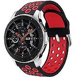 Syxinn Compatible para 22mm Correa de Reloj Galaxy Watch 46mm/Gear S3 Frontier/Classic Banda de Reemplazo de Silicona Deportiva...