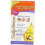 Sally Hansen Hair Remover Wax Strip Kit BroWith Face/Bikini (2 Pack)